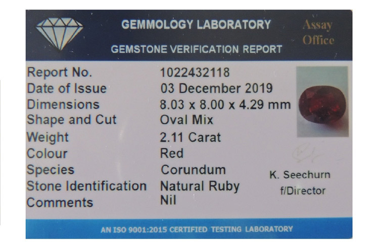 Gemstone Verification Report